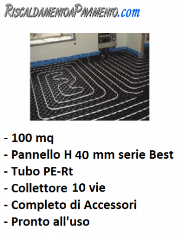 100 mq di riscaldamento a pavimento