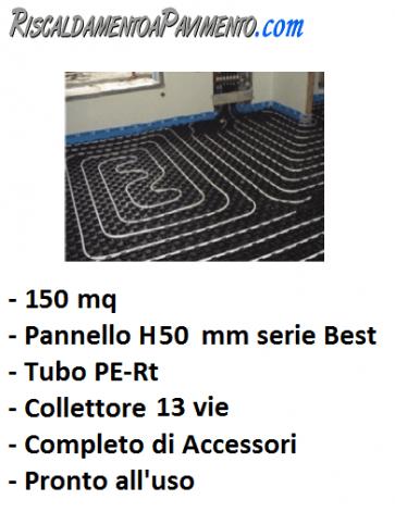150 mq di riscaldamento a pavimento