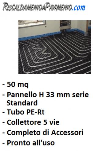 50 mq di riscaldamento a pavimento