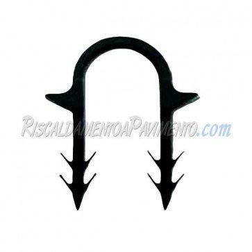Clip di fissaggio a cavallotto in automatico per radiante - confezione da 900 pz