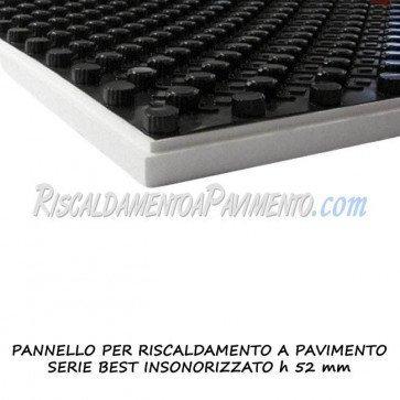 Pannello isolante serie best insonorizzato h 52 mm