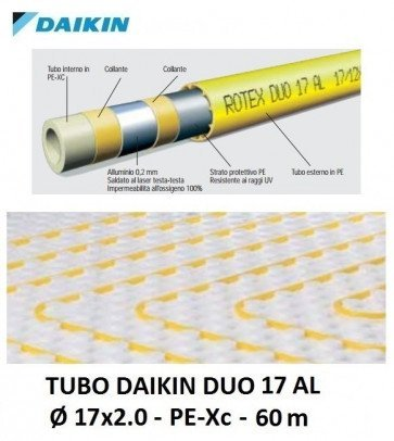 Tubo per Riscaldamento a Pavimento Daikin Duo 17 AL- 17x2.0 - 60 m