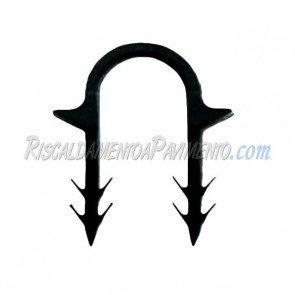Clip di fissaggio a cavallotto in manuale per radiante - confezione da 200 pz
