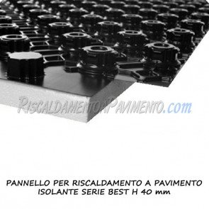 Pannello isolante serie best h 40 mm