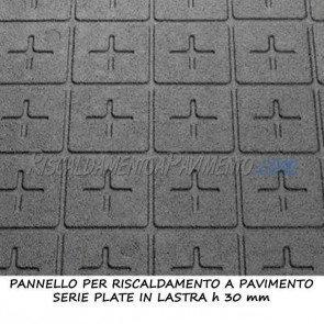 Pannello isolante serie plate in lastra altezza 30 mm