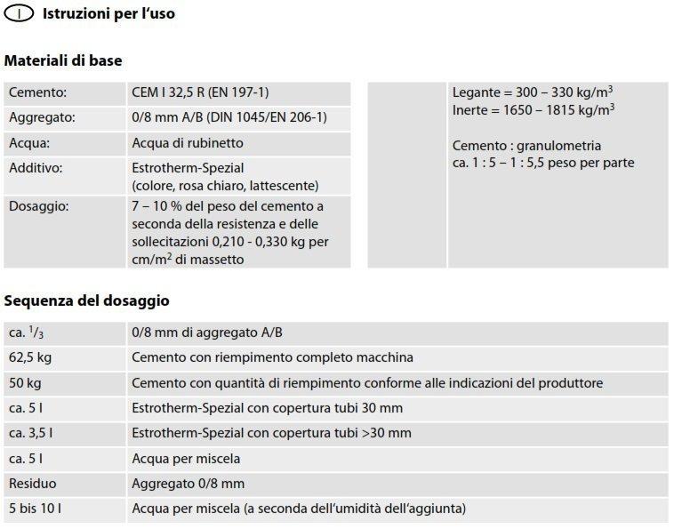 Istruzioni per l'uso dell' Additivo per Massetto Daikin Estrotherm-S